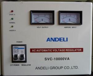Стабилизатор напряжения механический ANDELI SVC - 10000 Va