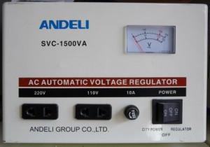 Стабилизатор напряжения механический ANDELI SVC - 1500 Va