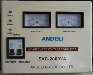 Стабилизатор напряжения механический ANDELI SVC - 2000 Va
