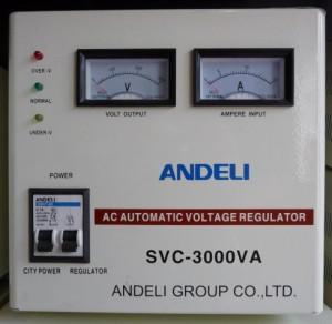 Стабилизатор напряжения механический ANDELI SVC - 3000 Va