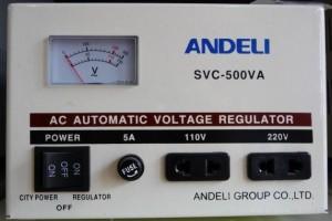 Стабилизатор напряжения механический ANDELI SVC - 500 Va