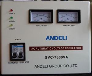 Стабилизатор напряжения механический ANDELI SVC - 7500 Va