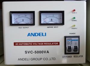 Стабилизатор напряжения механический ANDELI SVC - 5000 Va