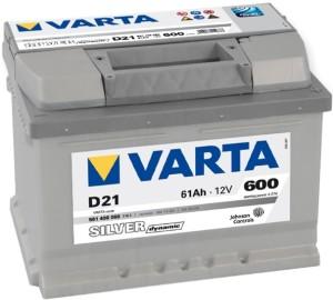 Аккумулятор автомобильный VARTA SILVER DINAMIC 61  D21 (561 400 060)