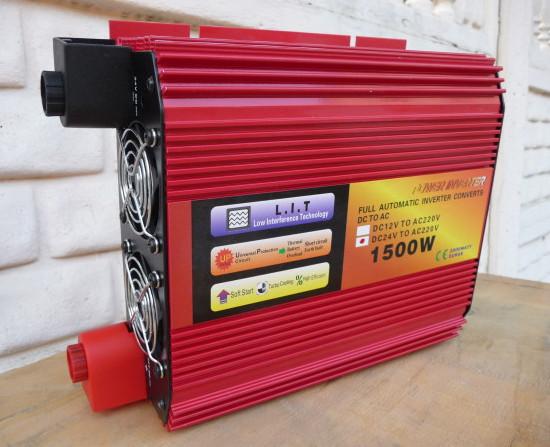 Red Energy преобразователь напряжения (инвертор) 1500W/24V