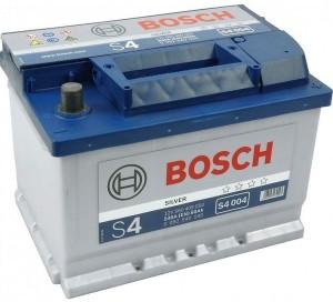 Аккумулятор автомобильный BOSCH 60 А/ч (S4 004) о/п, низкий