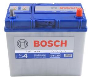 Аккумулятор автомобильный  BOSCH Asia 45 А/ч (S4 020) о/п тонкие клеммы
