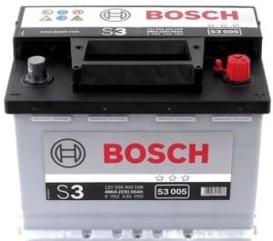 Аккумулятор автомобильный BOSCH 56 А/ч (S3 005) о/п