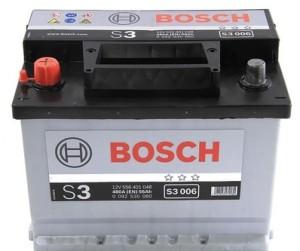 Аккумулятор автомобильный BOSCH 56 А/ч (S3 006) п/п