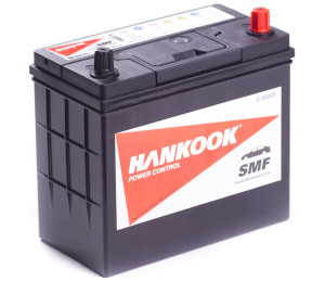 Аккумулятор автомобильный HANKOOK 6СТ-48 R+ (60B24L) тонк. кл.