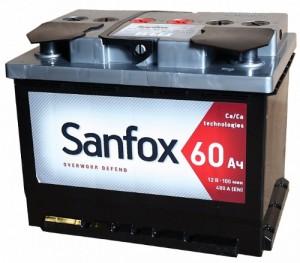 Аккумулятор автомобильный Sanfox 6CT-60   480А