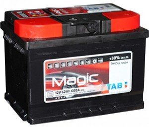 Аккумулятор автомобильный TAB MAGIK 6CT-62 R+  низкий