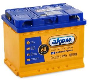 Аккумулятор автомобильный АКОМ EFB 6ст-60(п/п) 530 А