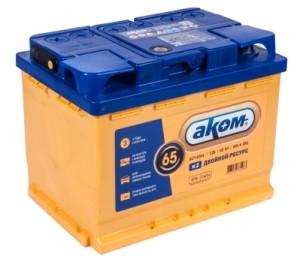 Аккумулятор автомобильный АКОМ EFB 6ст-65(п/п) 600 А