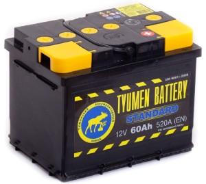 Аккумулятор автомобильный Тюмень STANDART 6CT-60L