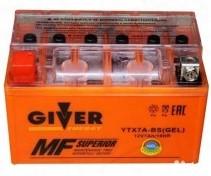 Аккумулятор GIVER ENERGY 12V/7Ач (YTX7A-BS) GEL