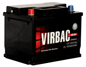 Аккумулятор VIRBAC 6ст-60 (о.п.) 480А