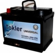 Аккумулятор TOKLER Universal 6ст-60 (п.п.) 500A