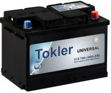 Аккумулятор TOKLER Universal 6ст-77 (п.п.) 600A