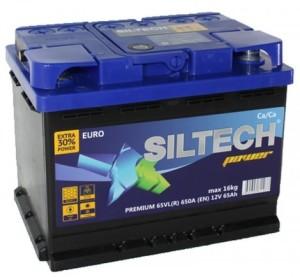 Аккумулятор автомобильный SILTECH POWER 6СТ-65 VL (о.п.) 650